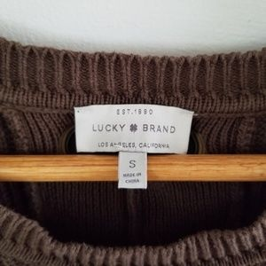 Lucky Brand Sweaters - lucky brand • back lace pullover sweater • I012